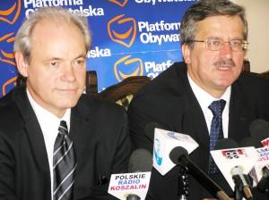 Poseł Adam Szejnfeld i Marszałek Sejmu RP Bronisław Komorowski